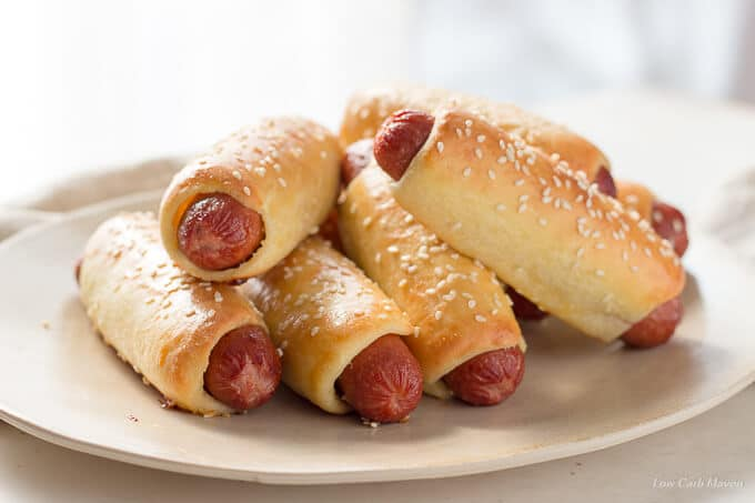 LOW CARB BAGEL DOGS OR PRETZEL DOGS